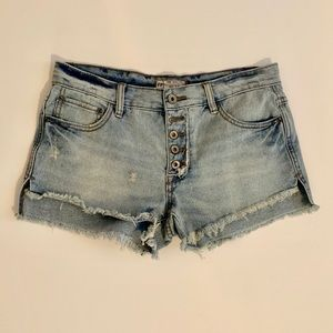 Free People Button-Fly Denim Shorts Sz. 26
